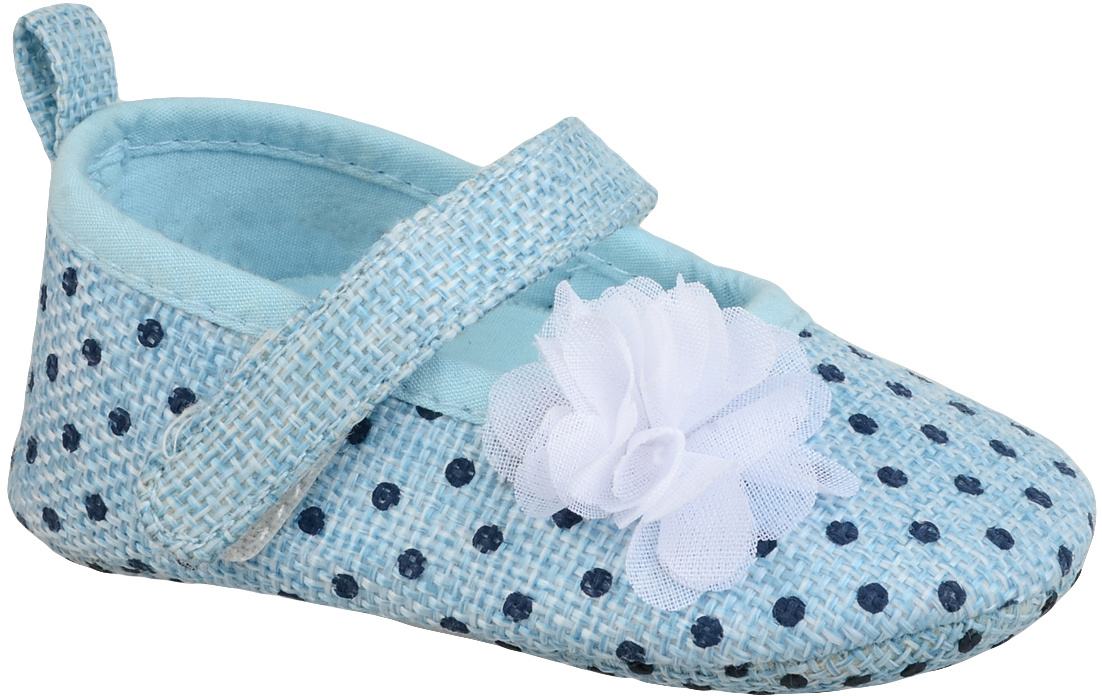 Пинетки для девочки Котофей, цвет: голубой. 001073-11. Размер 19001073-11