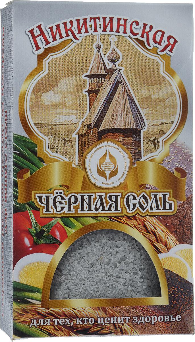 Черная соль Никитинская, 100 г гречневые блины с пудовъ по старинному рецепту 350г