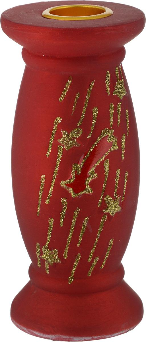 Подсвечник декоративный House & Holder, круглый, цвет: бордовый 5 х 5 х 12,3 смDHS11330_круглый, бордовыйПодсвечник House & Holder выполнен из керамики иукрашен блестками. В подсвечнике имеется специальноеместо для свечки (в комплект не входит). Изделие будетпрекрасно смотреться на праздничном столе.Новогодние украшения несут в себе волшебство и красотупраздника. Они помогут вам украсить дом к предстоящимпраздникам и оживить интерьер по вашему вкусу.Создайте в доме атмосферу тепла, веселья и радости,украшая его всей семьей. Диаметр места для свечки: 2,2 см.