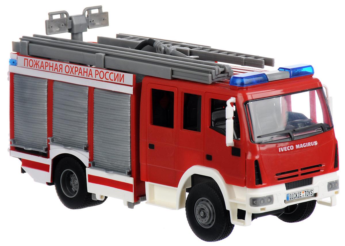 Dickie Toys Пожарная машина с водой цвет белый красный dickie toys машинка bumblebee tin box