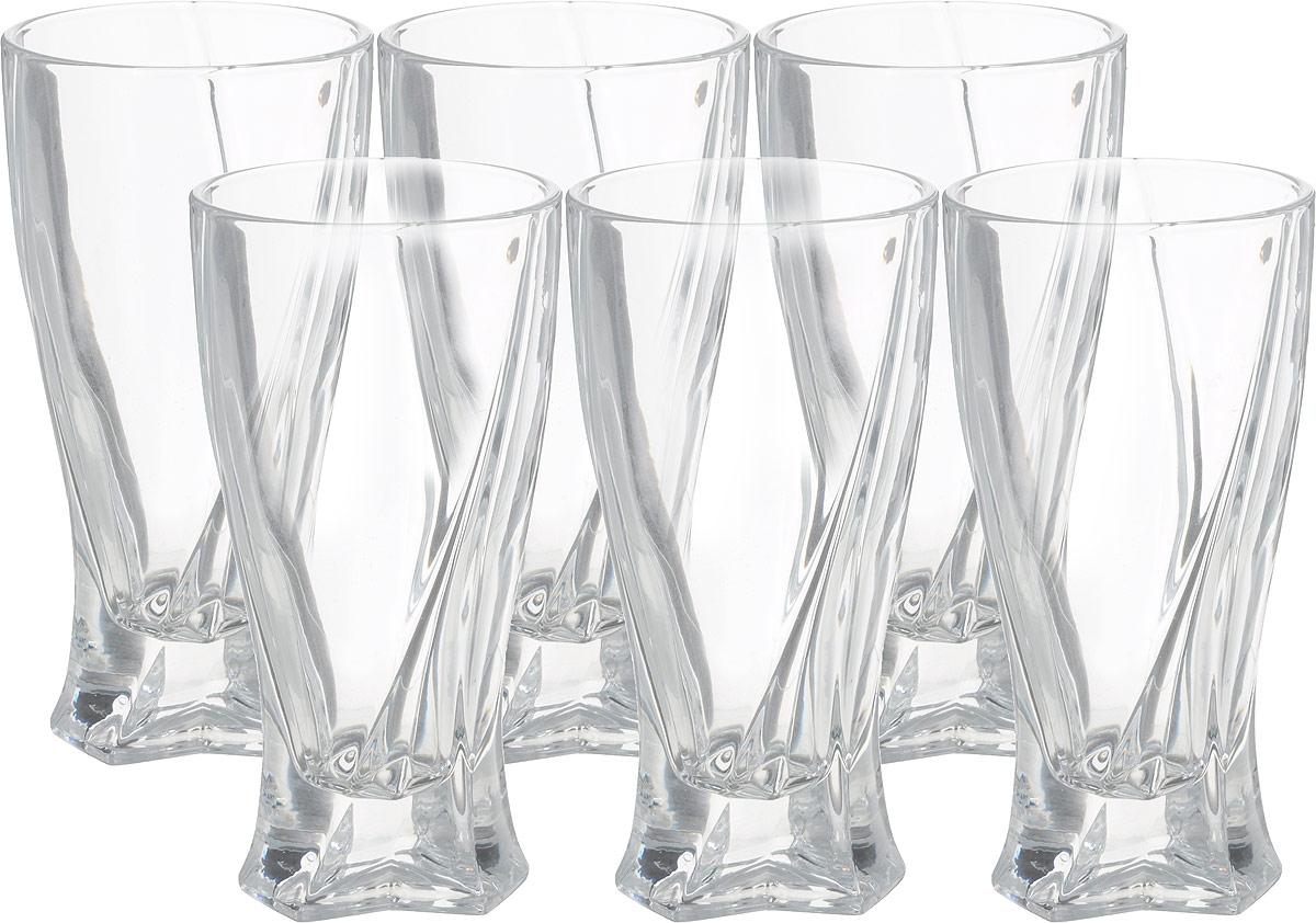 """Набор стаканов для воды Queen of Bohemia """"Трио"""", 350 мл 6 шт. Эксклюзивная, уникальная форма подчеркивает своими гранями высокую преломляемость стекла  Набор стаканов Queen of Bohemia """"Трио"""" изготовлены из прочного утолщенного стекла """"кристалайт""""."""