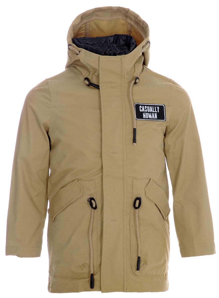 Куртка для мальчика Boom!, цвет: горчичный . 80019_BOB. Размер 11680019_BOBСтильная хлопковая куртка-парка Boom! для мальчика с подстёжкой. Одна модель на любую погоду: с подстёжкой на прохладную и ветреную, без подстёжки - на тёплую весеннюю или летнюю.