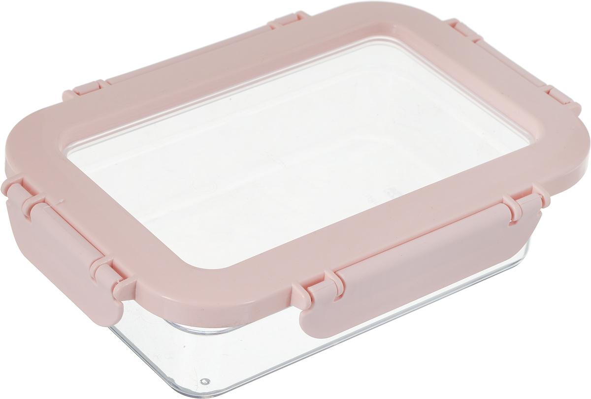 Контейнер для продуктов Herevin, цвет: прозрачный, розовый, 600 мл. 161426-500CP1082S/RDКонтейнер для продуктов Herevin изготовлен из качественного пищевого пластика без содержания BPA. Крышка с 4 защелками плотно и герметично закрывается, поэтому продукты дольше остаются свежими. Прозрачные стенки позволяют видеть содержимое. Такой контейнер подойдет для использования дома, его можно взять с собой на работу, учебу, в поездку. Можно использовать в микроволновой печи без крышки. Нельзя мыть в посудомоечной машине.