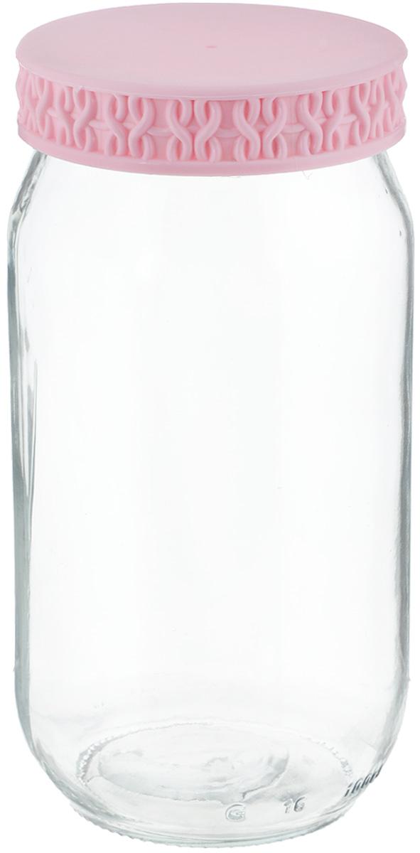 Банка Remmy Home, цвет: прозрачный, коралловый, 1 л200007_прозрачный, коралловыйБанка для сыпучих продуктов Herevin выполнена из высококачественного прочного стекла. Изделие снабжено плотно закручивающейсяпластиковой крышкой с рельефом. Прозрачные стенки позволяют видеть содержимое. Такая банка отлично подойдет для хранения различныхсыпучих продуктов: орехов, сухофруктов, чая, кофе, специй. Диаметр банки: 8,5 см. Высота банки: 18 см.