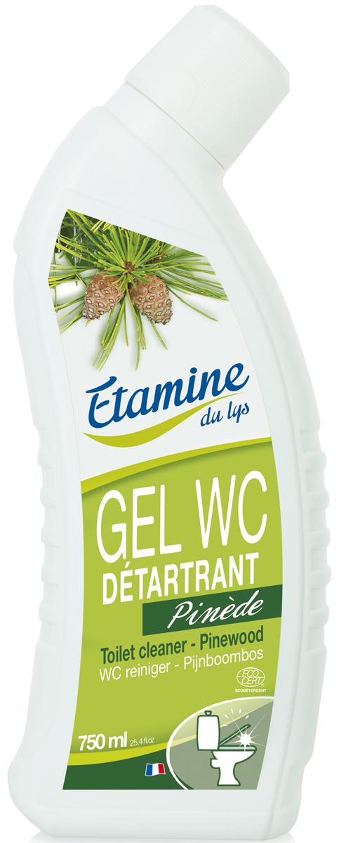 Экологичный гель для туалетов Etamine du Lys Сосна, 750 мл0511220100% экологическое средство для удаления известкового налета, очищения и дезинфицирования унитазов. Благодаря натуральным лимонной и сульфаминовой кислотам, без усилий удаляет стойкие загрязнения, в том числе известковый налет и мочевой камень. Не разрушает пластмассу и резиновые стыки труб. 100% натуральные эфирные масла апельсина, эвкалипта и сосны надолго устраняют неприятные запахи, наполняя туалетную комнату природными ароматами хвои. Не раздражает кожу рук. Биоразлагаемая формула. Средство полностью безопасно для человека, окружающей среды. Не содержит хлора и агрессивных чистящих ингредиентов. ПАВы растительного происхождения.
