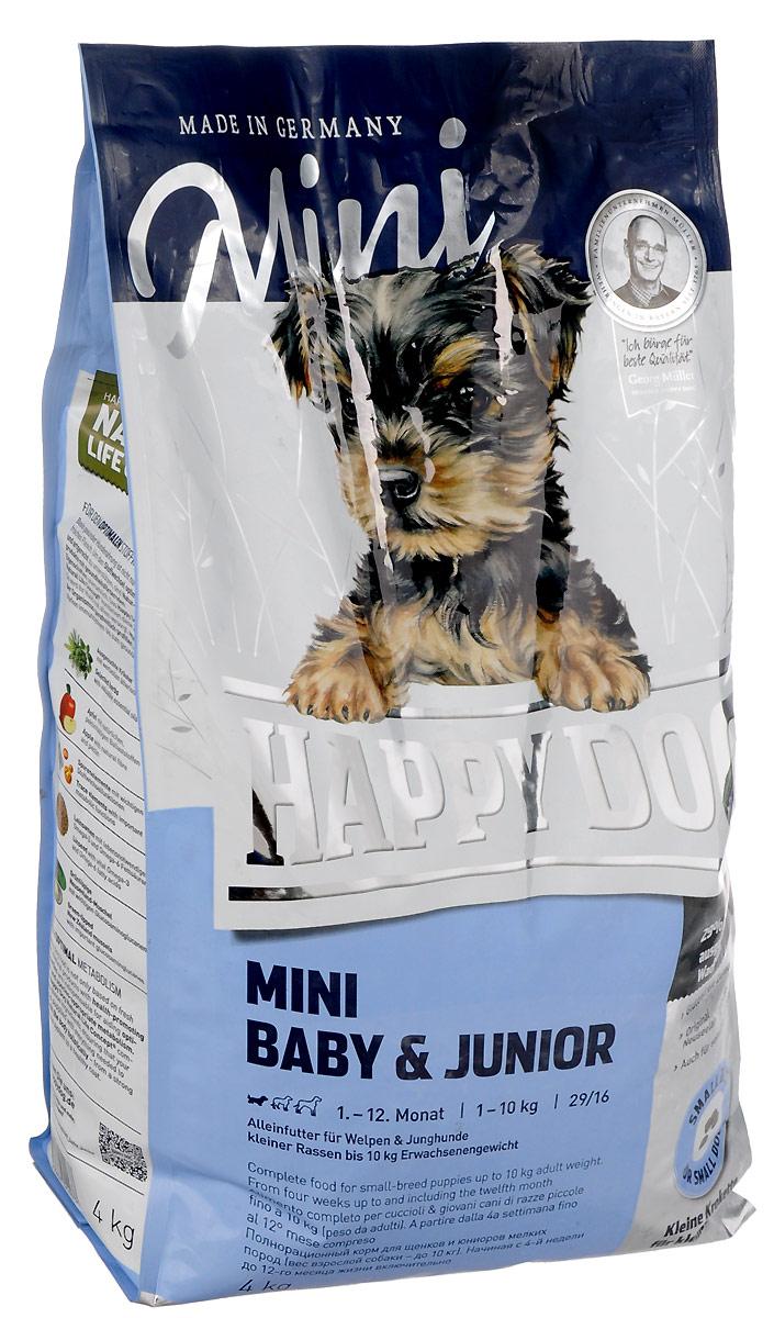 Корм сухой Happy Dog Mini Baby & Junior для щенков мелких пород, 4 кг3413Happy Dog Mini Baby & Junior - оптимально сбалансированный корм для щенков мелких пород. Корм объединяет высококачественные ингредиенты: мясо птицы, лосося, а также ценного новозеландского моллюска. Одобренная ветеринарными врачами рецептура содержит 29% белка. Этот сухой корм оптимально подходит для беспроблемного и щадящего кормления щенков и юниоров всех пород, в том числе чувствительных к кормам начиная с 4 недели жизни (вес взрослой собаки - до 10 кг). Состав: птица (26,5%), кукурузная мука, рисовая мука, птичий жир, лосось (5%), картофельный белок, картофель, клетчатка, свекольная пульпа, масло из семян подсолнечника, яблочная пульпа (0,6%), сухое цельное яйцо, рапсовое масло, хлорид натрия, дрожжи, хлорид калия, морские водоросли (0,15%), семя льна (0,15%), дрожжи (экстрагированные), расторопша, артишок, одуванчик, имбирь, березовый лист, крапива, ромашка, кориандр, розмарин, шалфей, корень солодки, тимьян, новозеландский моллюск (0,01%), (общий объем сухих трав: 0,14%).Аналитический состав: сырой протеин 29%, сырой жир 16%, сырая клетчатка 3,0%, сырая зола 6,5%, кальций 1,4%, фосфор 1,0%, натрий 0,4%, Омега-6 жирные кислоты 3,0%, Омега-3 жирные кислоты 0.4%.Витамины/кг: витамин A 12000 М.Е., витамин D3 1200 М.E., витамин Е 75 мг, витамин В1 4 мг, витамин В6 6 мг, биотин 4 мг, кальция D- пантотенат 575 мкг, ниацин 10 мг, витамин В12 40 мг, холинхлорид. Микроэлементы/кг: железо 70 мкг, медь 60 мг, цинк 105 мг, марганец 10 мг, йод 125 мг, селен 25 мг.Товар сертифицирован.Уважаемые клиенты! Обращаем ваше внимание на возможные изменения в дизайне упаковки. Качественные характеристики товара остаются неизменными. Поставка осуществляется в зависимости от наличия на складе.