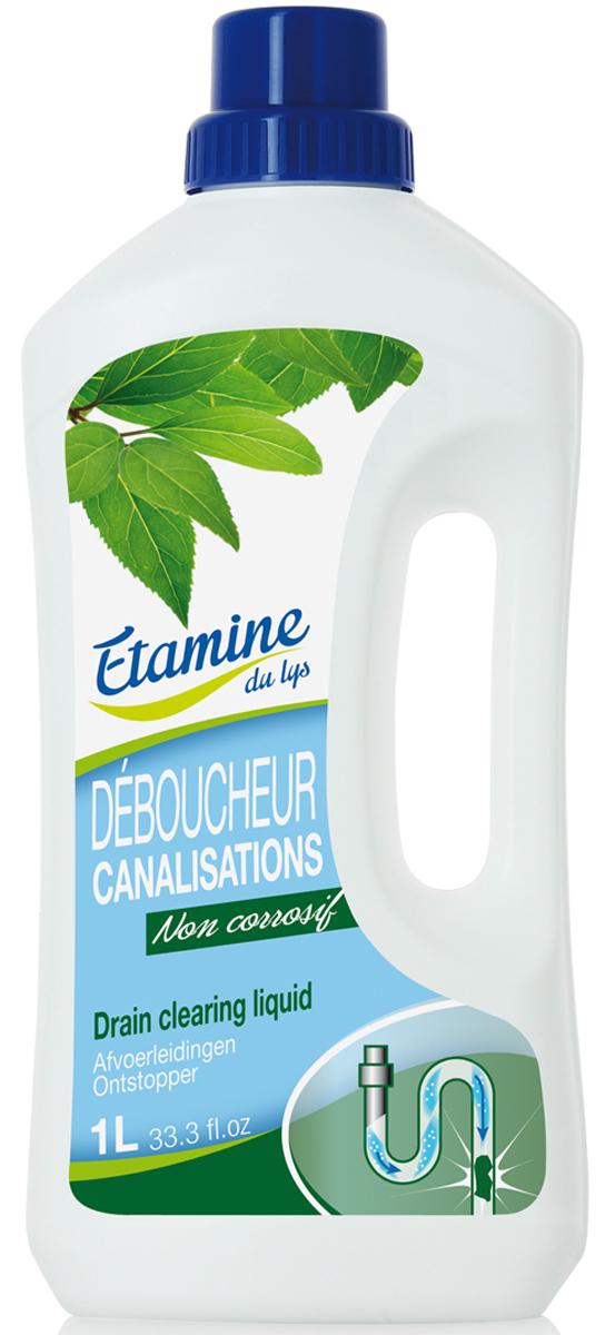 Экологичное средство Etamine du Lys, для прочистки труб и удаления засоров, 1 л