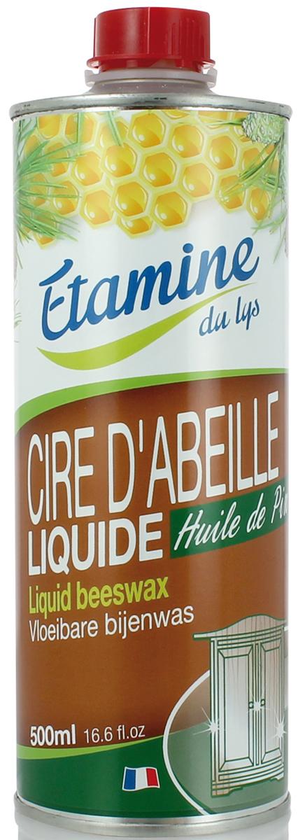 Экологичное средство Etamine du Lys, для ухода и полировки мебели «Пчелиный воск» с сосновым маслом, 500 мл -  Бытовая химия
