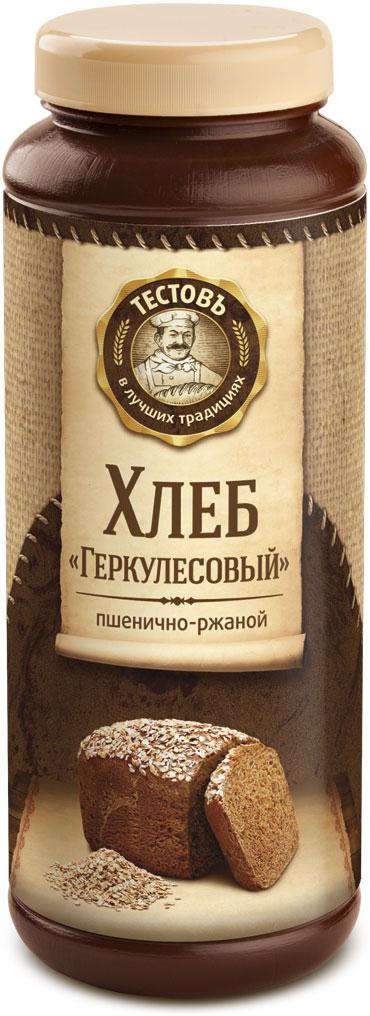 Тестовъ хлеб Геркулесовый пшенично-ржаной, 400 г еда быстрого приготовления