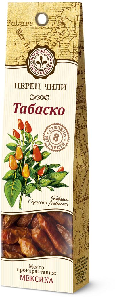 Домашняя кухня Чили табаско, 8 г26755В качестве пряности перец табаско является незаменимым ингредиентом многих блюд мексиканской кухни — его добавляют в соусы, блюда из мяса, фасоли. Чили табаско также успешно используют для варки раков. Сушеные стручки можно добавлять в жаркое и мясные блюда. Также эта специя является обязательным компонентом коктейля Кровавая Мэри.