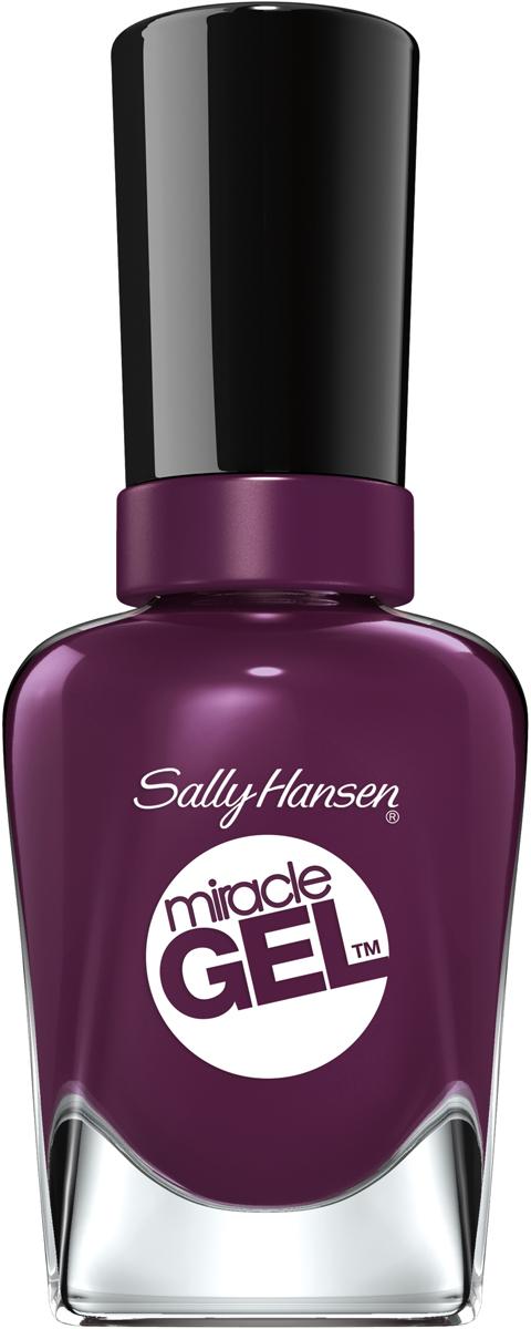 Sally Hansen Гель Лак для ногтей Miracle Gel, тон №572 Wild For Violet, 14 мл - Декоративная косметика
