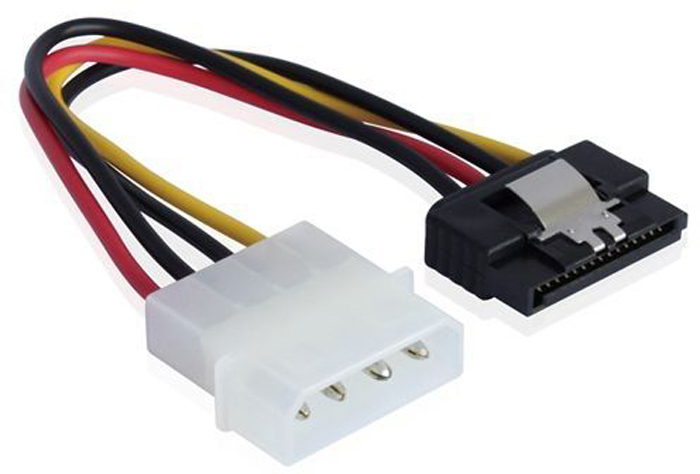 GCR GC-ST203 кабель питания MOLEX 4pin / SATA 15pin (0,15 м) f04227 ide molex to 2 serial ata sata y splitter 4 pin hard drive power adapter cable cord