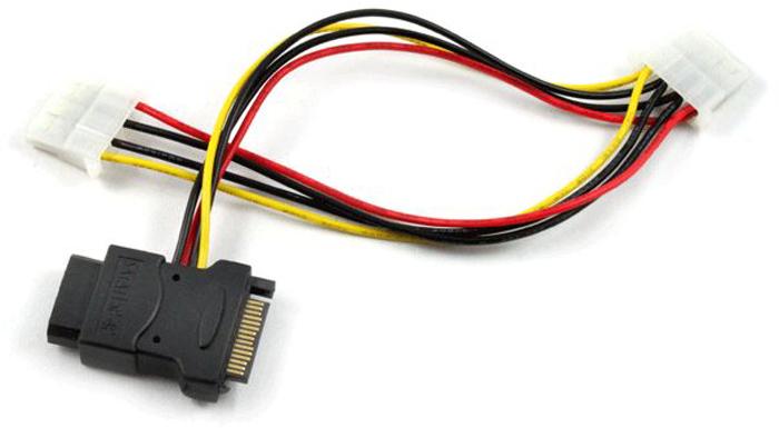 GCR GC-ST206 кабель питания переходник-разветвитель SATA (0,15 м) переходник sata 8 pin