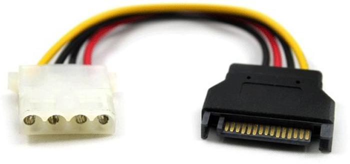 GCR GC-ST211 кабель питания SATA 15pin / MOLEX 4pin (0,15 м)GC-ST211Кабель питания 0.15m . SATA Greenconnect GC-ST211, SATA 15pin /MOLEX 4pin, медь, пакетТехнические характеристики: Этот кабель позволяет конвертировать питания ПК с интерфейсом SATA в формате Molex для питания устройств с 4-контактный разъем Molex.Разъемы: SATA 15pin [штекер] / Molex 4pin[гнездо], латунные контакты, медь Длина кабеля: 15 см Упаковка: пластиковый пакет Этот кабель позволяет конвертировать питания ПК с интерфейсом SATA в формате Molex для питания устройств с 4-контактный разъем Molex.• Разъем питания 4-контактный Molex для• Разъем: 15-контактный мужской SATA на 4-контактный Molex [гнездо]•Длина кабеля15 см Сертификаты: RoHS, CE, FCC