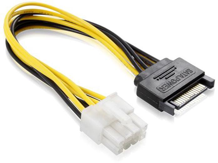 GCR GC-ST219 кабель питания SATA 15pin / ATX 8pin (0,15 м)GC-ST219Кабель питания 0.15m SATA Greenconnect GC-ST219 SATA 15pin / ATX 8 pin, медь, пакет Разъемы: SATA 15pin [штекер] / ATX 8 pin[гнездо], латунные контакты, медь Разъемы для материнской платы / PCI-E карты Длина кабеля: 15 смСертификаты: RoHS, CE, FCC Упаковка: пластиковый пакет