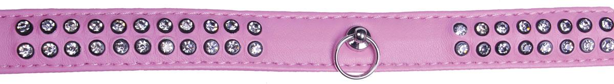 Ошейник для собак GLG, цвет: розовый, 2 x 48 смAM-DC040/B-48-PОшейник для собак GLG изготовлен из искусственной кожи, устойчивой к влажности и перепадам температур. Клеевой слой, сверхпрочные нити, крепкие металлические элементы делают ошейник надежным и долговечным.Изделие декорировано стразами, отличается высоким качеством, удобством и универсальностью.Размер ошейника регулируется при помощи пряжки, имеется металлическое кольцо для фиксации поводка.Обхват шеи: 48 см. Ширина: 2 см.