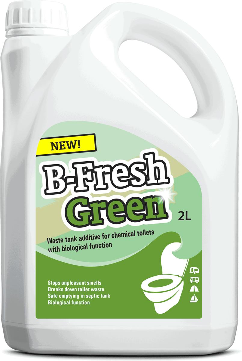 Жидкость для септиков и биотуалетов Thetford B-Fresh Green, 2 л порошок для септиков и биотуалетов thetford для биотуалета aqua kem blue sach 12 шт
