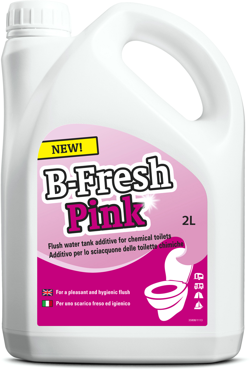 Жидкость для септиков и биотуалетов Thetford B-Fresh Pink, 2 л порошок для септиков и биотуалетов thetford для биотуалета aqua kem blue sach 12 шт