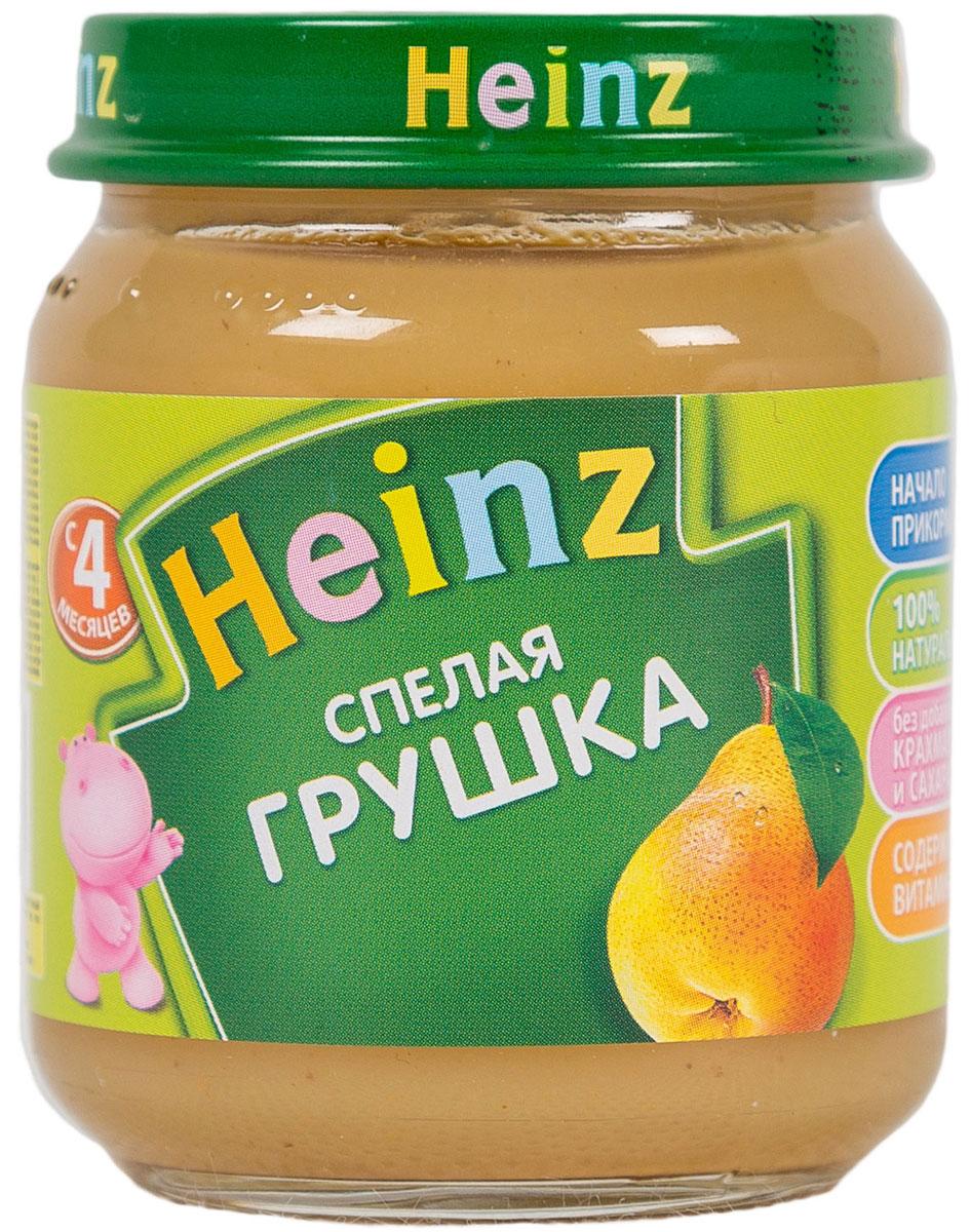 Heinz пюре спелая грушка, с 4 месяцев, 80 г heinz пюре цыпленок с телятинкой с 6 месяцев 80 г