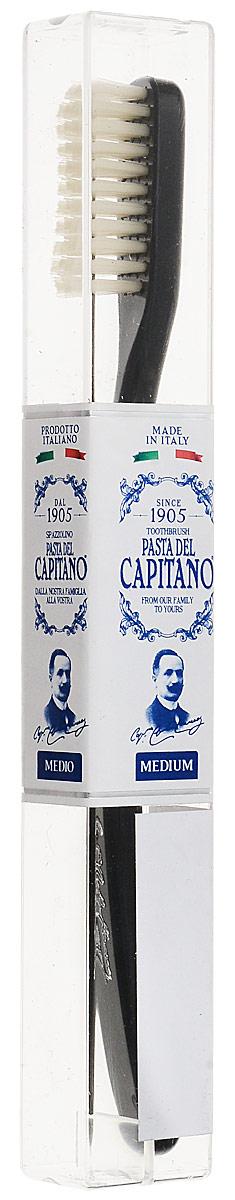 Pasta del Capitano Премиальная винтажная зубная щетка средней жесткости0378100Премиальная зубная щетка Pasta del Capitano Винтажная имеет щетину средней жесткости, изготовленную из материала Tynex. Щетка является является воспроизведением оригинальной версии. Для тех, кто любит что-то старинное, и действительно, что-то необычное.