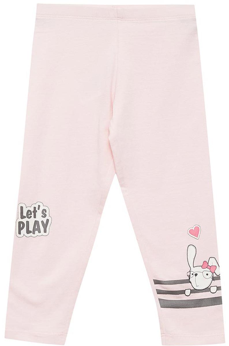 Брюки для девочек Sela, цвет: светло-розовый. PLG-515/504-8111P. Размер 116PLG-515/504-8111P