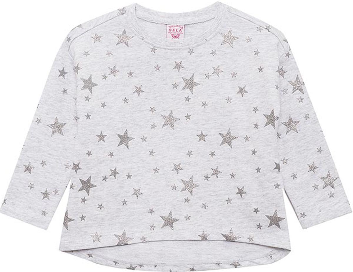 Джемпер для девочки Sela, цвет: светло-серый. St-513/376-8121. Размер 116 цена