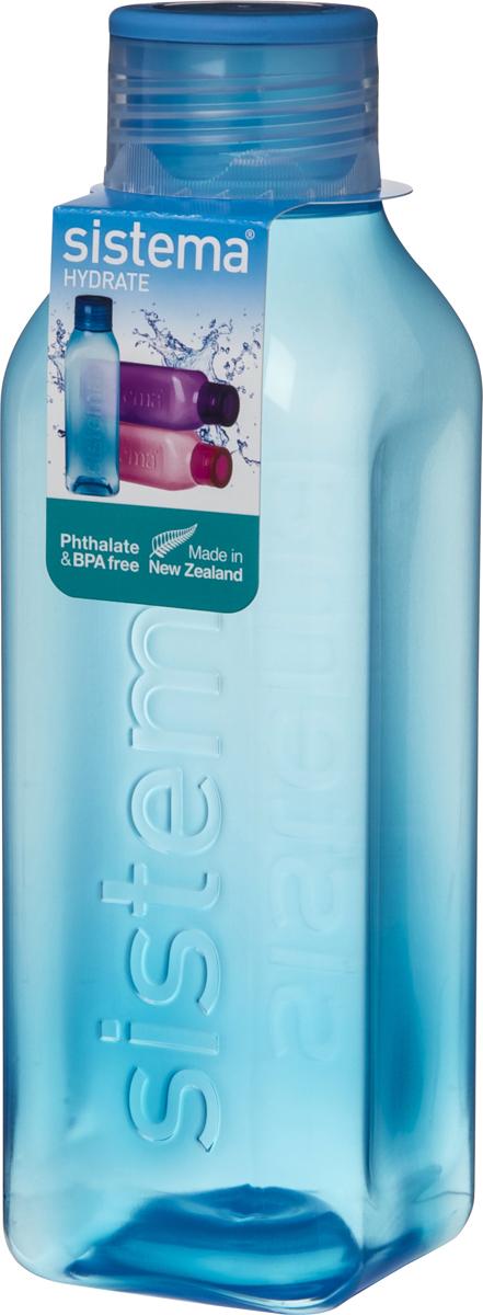 Бутылка для воды Sistema, цвет: синий, 1 л890Идеальное решение для активных людей. Стильный ретро дизайн – квадратная форма и модные цвета. Подходит для использования в холодильнике и морозильной камере. Можно использовать в микроволновой печи без крышки. Легко моется – можно мыть в посудомоечной машине в верхней корзине. Безопасный – не содержит бисфенол А и фталаты. Разработано и произведено в Новой Зеландии.