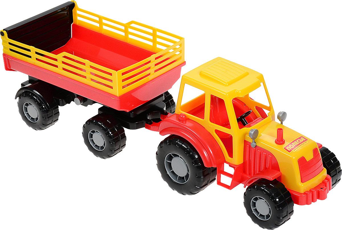 Полесье Трактор Алтай с прицепом №2 цвет красный трактор с прицепом св ход 36см dickie
