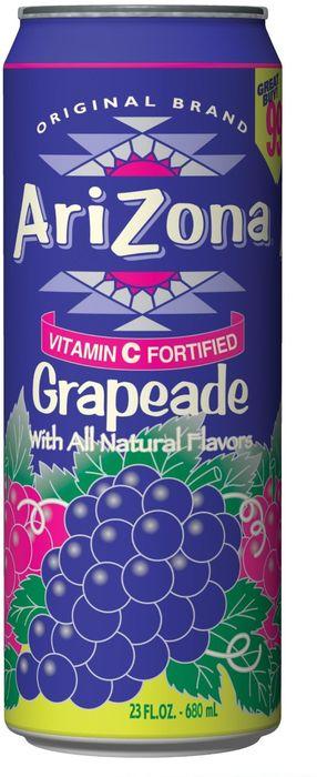 AriZona Grapeade напиток негазированный, 680 мл напиток негазированный аква минерале лимон пэт х12 0 6л