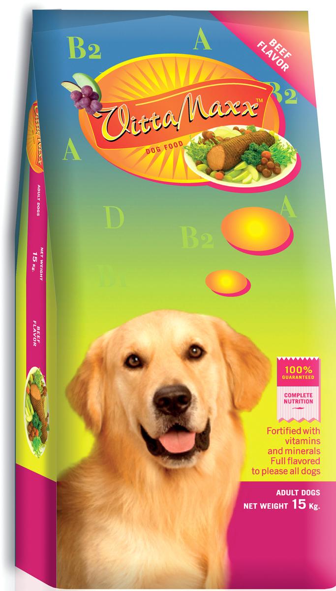 Корм сухой для собак PCG Виттамакс, говядина, 15 кг