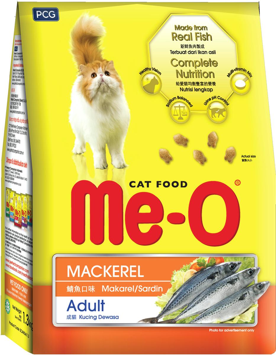 Корм сухой для кошек и котов PCG Ме-О, скумбрия, 1,2 кг114