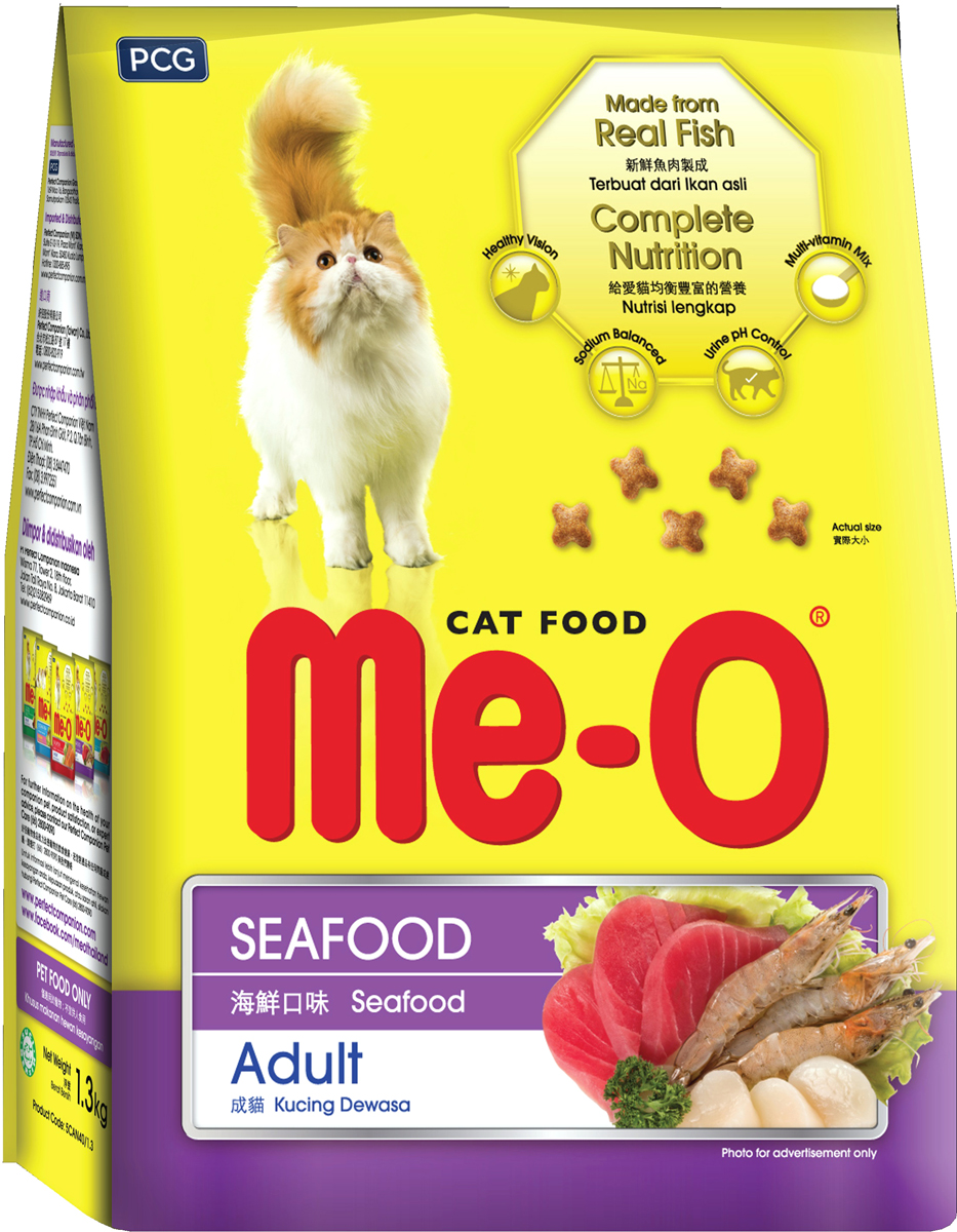 Корм сухой для кошек и котов PCG  Ме-О , морепродукты, 7 кг - Корма и лакомства