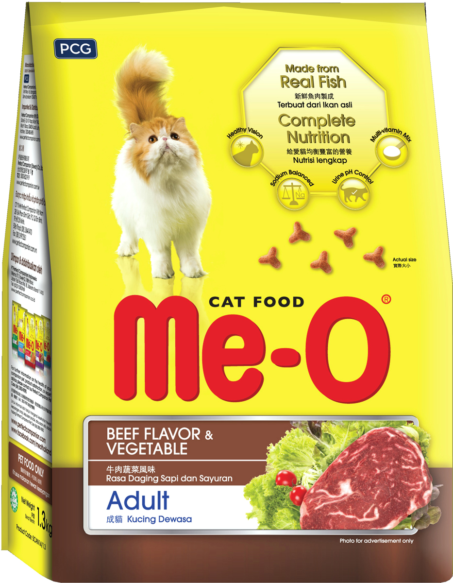 Корм сухой для кошек и котов PCG  Ме-О , говядина с овощами, 7 кг - Корма и лакомства