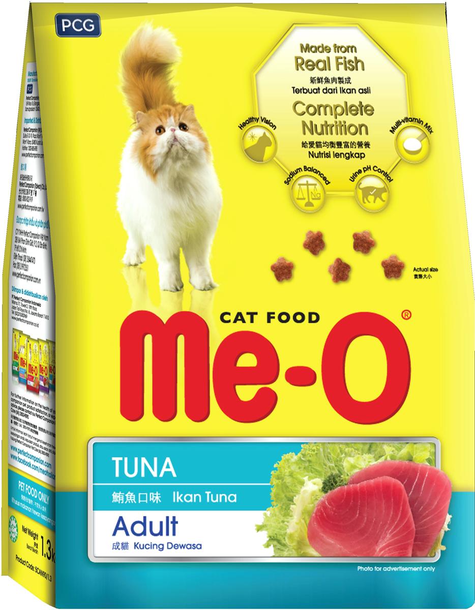 Корм сухой для кошек и котов PCG Ме-О, тунец, 3 кг паучи для котят pcg ме о тунец в желе 80 г