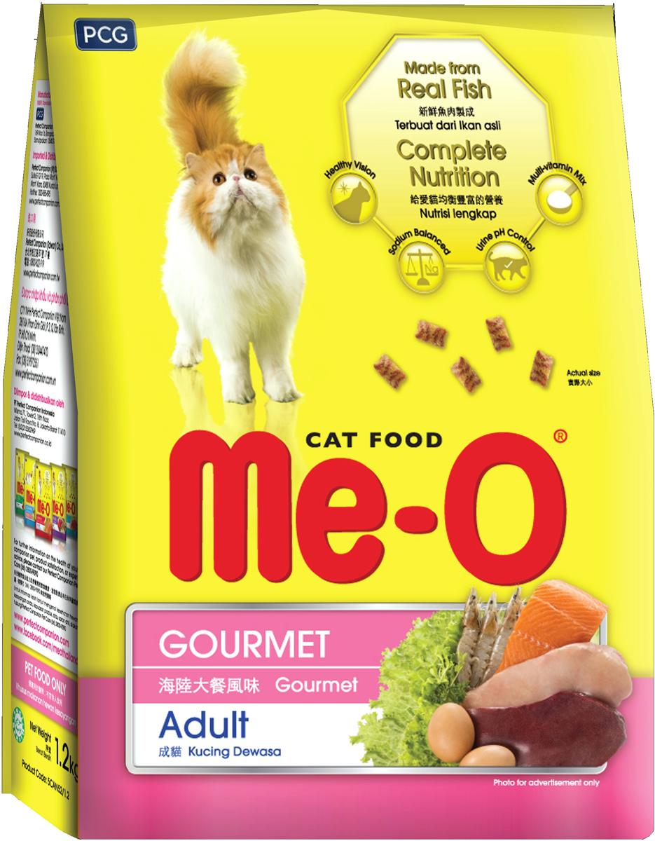 Корм сухой для кошек и котов PCG Ме-О. Деликатес, 200 г, 35 шт паучи для кошек pcg ме о тунец и белая рыба в желе 80 г