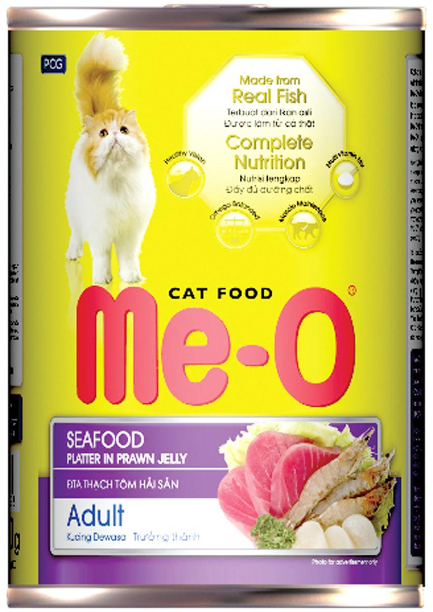 Корм консервированный для кошек PCG Ме-О, морепродукты, 400 г корм сухой для кошек и котов pcg ме о курица с овощами 3 кг