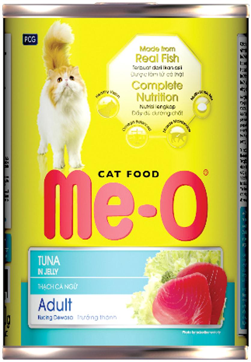 Корм консервированный для кошек PCG Ме-О, тунец в желе, 400 г ольхов олег рыба морепродукты на вашем столе салаты закуски супы второе