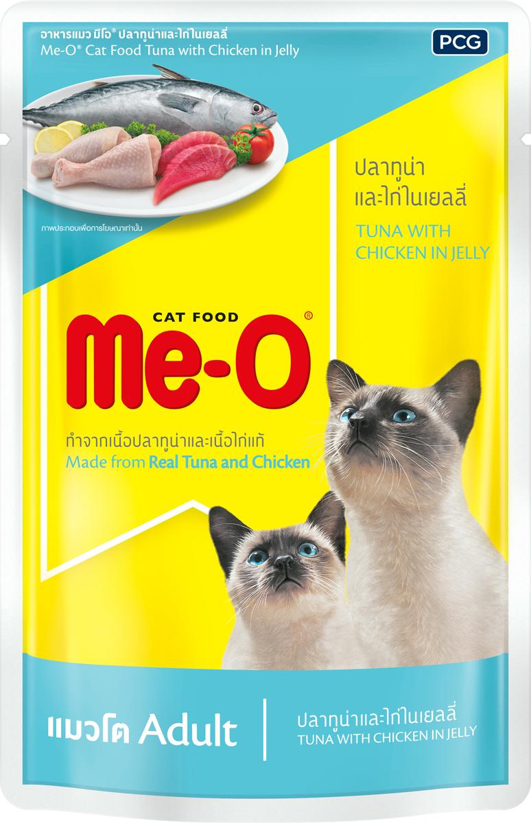 Паучи для кошек PCG Ме-О, тунец и курица в желе, 80 г 1 2pt male port water flow sensor switch control meter flowmeter 1 5 30l min