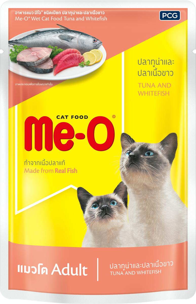 Паучи для кошек PCG Ме-О, тунец и белая рыба в желе, 80 г паучи для котят pcg ме о тунец в желе 80 г