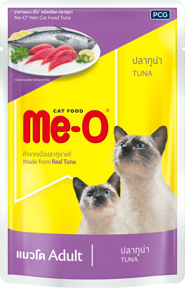 Паучи для кошек и котов PCG Ме-О, тунец в желе, 80 г паучи для котят pcg ме о тунец в желе 80 г