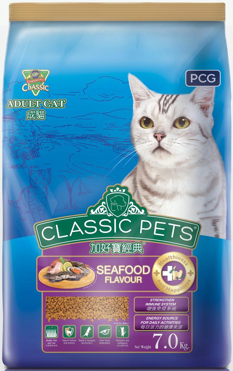 Корм сухой для кошек PCG Классик, морепродукты, 200 г, 35 шт паучи для котят pcg ме о тунец в желе 80 г