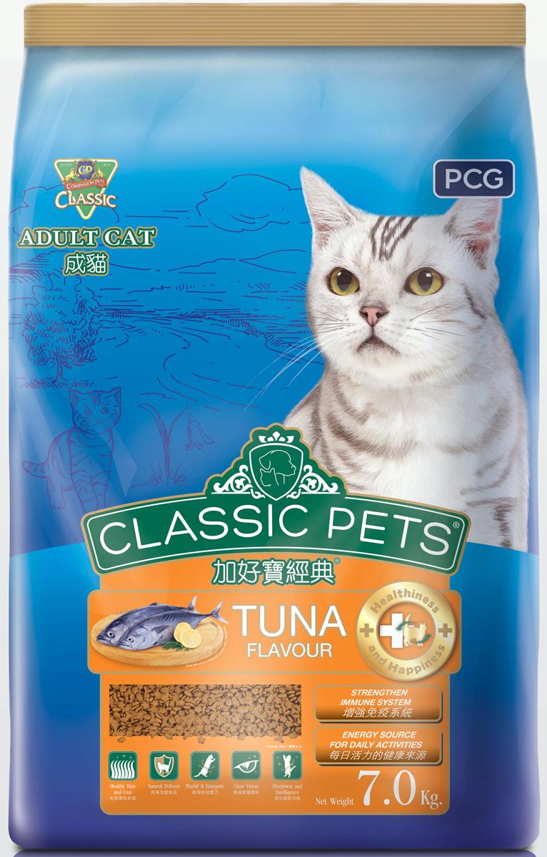 Корм сухой для кошек PCG Классик, тунец, 7 кг155