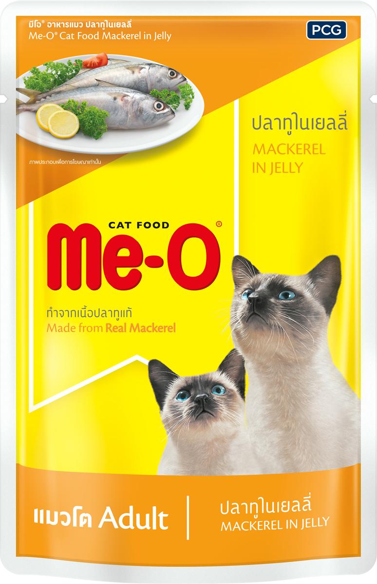 Паучи для кошек и котов PCG Ме-О, океаническая рыба в желе, 80 г рыба хариуз г красноярск