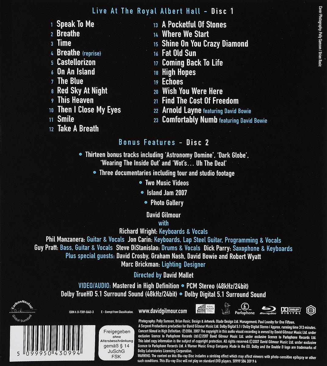 David Gilmour.  Remember That Night - Live At The Royal Albert Hall (2 Blu-Ray) Warner Music