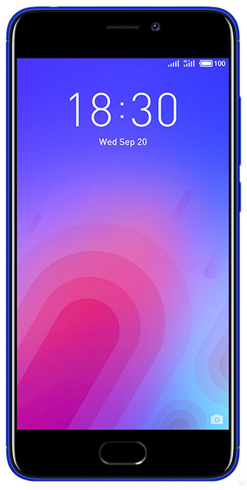 Meizu M6 32GB, BlueMZU-M711H-32-BLВыполненный из поликарбоната корпус нового Meizu M6 отличается новым необычным металлизированным покрытием. Вручную выверенные линии усиливают положительное впечатление от корпуса смартфона. Сочетание классических материалов с уникальным дизайном делают смартфон приятным и удобным в использовании.В Meizu M6 реализовано новое дизайнерское решение, благодаря которому смартфон приобрел уникальную утонченную внешность. С помощью технологии вакуумной металлизации на корпус был нанесен слой металлизированной краски. Выгравированный лазером логотип компании дополнил привлекательный образ нового смартфона.С новым 5,2-дюймовым дисплеем с контрастностью 1000:1 вы сможете наслаждаться четкими и яркими изображениями, которые заметно отличаются от изображений на смартфонах предыдущего поколения. Скругленное стекло 2,5D делает просмотр изображений еще более приятным, а технология полной ламинации значительно улучшает яркость картинки.Сканер отпечатков пальцев установлен в кнопке Домой. Однократным касанием вы можете разблокировать устройство, а также использовать сенсор для безопасных платежей и даже для блокировки запуска любых приложений.Длительная работа в режиме ожидания с 3070 мАч аккумулятором. C мощной батарейкой энергии вашему компактному смартфону хватит на весь насыщенный впечатлениями день.В Meizu M6 установлен 64-битный 8-ядерный процессор, дополненный 3 ГБ оперативной памяти и 32 ГБ внутренней. В такой комплектации ваш M6 сможет удовлетворить любые пожелания и запросы в области музыки и видео. Надо ли говорить, что и требовательные игры на нем идут легко и без проблем?Основная камера - 13 Мп, фронтальная камера для селфи - 8 Мп. В основной камере M6 установлен сенсор RGBW, сдвоенная вспышка и алгоритм подавления шумов от ArcSoft. В результате смартфон делает прекрасные снимки даже в условиях недостаточного освещения. 8 Мп фронтальную камеру усилили апертурой f/2.0 и алгоритмом редактирования фотографий от ArcSoft, чтобы каждый портре