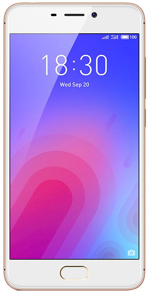 Meizu M6 32GB, GoldMZU-M711H-32-GDВыполненный из поликарбоната корпус нового Meizu M6 отличается новым необычным металлизированным покрытием. Вручную выверенные линии усиливают положительное впечатление от корпуса смартфона. Сочетание классических материалов с уникальным дизайном делают смартфон приятным и удобным в использовании.В Meizu M6 реализовано новое дизайнерское решение, благодаря которому смартфон приобрел уникальную утонченную внешность. С помощью технологии вакуумной металлизации на корпус был нанесен слой металлизированной краски. Выгравированный лазером логотип компании дополнил привлекательный образ нового смартфона.С новым 5,2-дюймовым дисплеем с контрастностью 1000:1 вы сможете наслаждаться четкими и яркими изображениями, которые заметно отличаются от изображений на смартфонах предыдущего поколения. Скругленное стекло 2,5D делает просмотр изображений еще более приятным, а технология полной ламинации значительно улучшает яркость картинки.Сканер отпечатков пальцев установлен в кнопке Домой. Однократным касанием вы можете разблокировать устройство, а также использовать сенсор для безопасных платежей и даже для блокировки запуска любых приложений.Длительная работа в режиме ожидания с 3070 мАч аккумулятором. C мощной батарейкой энергии вашему компактному смартфону хватит на весь насыщенный впечатлениями день.В Meizu M6 установлен 64-битный 8-ядерный процессор, дополненный 3 ГБ оперативной памяти и 32 ГБ внутренней. В такой комплектации ваш M6 сможет удовлетворить любые пожелания и запросы в области музыки и видео. Надо ли говорить, что и требовательные игры на нем идут легко и без проблем?Основная камера - 13 Мп, фронтальная камера для селфи - 8 Мп. В основной камере M6 установлен сенсор RGBW, сдвоенная вспышка и алгоритм подавления шумов от ArcSoft. В результате смартфон делает прекрасные снимки даже в условиях недостаточного освещения. 8 Мп фронтальную камеру усилили апертурой f/2.0 и алгоритмом редактирования фотографий от ArcSoft, чтобы каждый портре