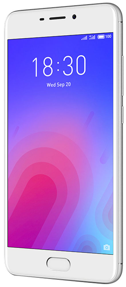 Meizu M6 32GB, SilverMZU-M711H-32-SWВыполненный из поликарбоната корпус нового Meizu M6 отличается новым необычным металлизированным покрытием. Вручную выверенные линии усиливают положительное впечатление от корпуса смартфона. Сочетание классических материалов с уникальным дизайном делают смартфон приятным и удобным в использовании.В Meizu M6 реализовано новое дизайнерское решение, благодаря которому смартфон приобрел уникальную утонченную внешность. С помощью технологии вакуумной металлизации на корпус был нанесен слой металлизированной краски. Выгравированный лазером логотип компании дополнил привлекательный образ нового смартфона.С новым 5,2-дюймовым дисплеем с контрастностью 1000:1 вы сможете наслаждаться четкими и яркими изображениями, которые заметно отличаются от изображений на смартфонах предыдущего поколения. Скругленное стекло 2,5D делает просмотр изображений еще более приятным, а технология полной ламинации значительно улучшает яркость картинки.Сканер отпечатков пальцев установлен в кнопке Домой. Однократным касанием вы можете разблокировать устройство, а также использовать сенсор для безопасных платежей и даже для блокировки запуска любых приложений.Длительная работа в режиме ожидания с 3070 мАч аккумулятором. C мощной батарейкой энергии вашему компактному смартфону хватит на весь насыщенный впечатлениями день.В Meizu M6 установлен 64-битный 8-ядерный процессор, дополненный 3 ГБ оперативной памяти и 32 ГБ внутренней. В такой комплектации ваш M6 сможет удовлетворить любые пожелания и запросы в области музыки и видео. Надо ли говорить, что и требовательные игры на нем идут легко и без проблем?Основная камера - 13 Мп, фронтальная камера для селфи - 8 Мп. В основной камере M6 установлен сенсор RGBW, сдвоенная вспышка и алгоритм подавления шумов от ArcSoft. В результате смартфон делает прекрасные снимки даже в условиях недостаточного освещения. 8 Мп фронтальную камеру усилили апертурой f/2.0 и алгоритмом редактирования фотографий от ArcSoft, чтобы каждый порт