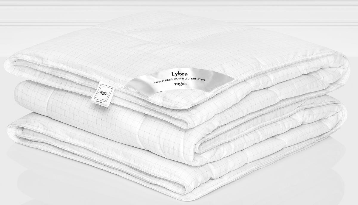 Одеяло Togas Либра, наполнитель: микрофайбер, цвет: белый, 140 x 200 см20.04.12.0126Наполнитель одеяла Togas Либра выполнен из микрофайбера. Это самый популярный материалдля изготовления одеял и подушек. Это искусственное волокно, которое обладает высокойизносоустойчивостью и прочностью, хорошо сохраняет форму, не мнется, гигроскопично. Одеялотеплое, очень легкое, обеспечивает достаточную циркуляцию воздуха, гиппоаллергенно.Отличный выбор, если вы страдаете аллергией. Уход: может применяться машинная стирка при температуре не выше 30 C, не отбеливать, негладить, сухая чистка, сушить при низких температурах.
