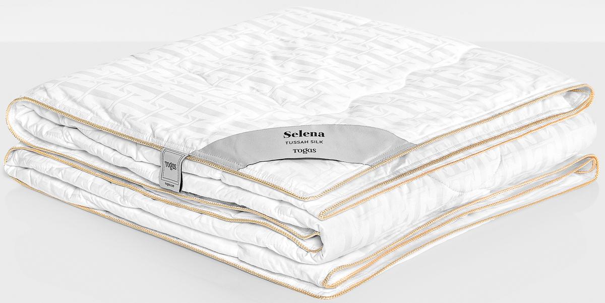 Одеяло Togas Селена, наполнитель: шелк, цвет: белый, 200 x 210 см20.04.16.0105Селена одеяло. Наполнитель: Шелк. Состав: чехол: 100% хлопок жаккард 300ТС; наполнитель: 100% шелк Тусса 350гр/м2. Комплектация: 1 одеяло. Размер: 200 x 210 см. Уход: не стирать, не отбеливать, не гладить, сухая чистка, не сушить.