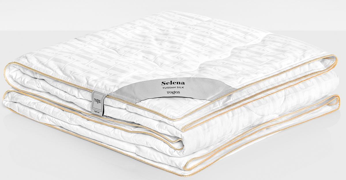 Одеяло Togas Селена, наполнитель: шелк, цвет: белый, 220 x 240 см20.04.16.0106Селена одеяло. Наполнитель: Шелк. Состав: чехол: 100% хлопок жаккард 300ТС; наполнитель: 100% шелк Тусса 350гр/м2. Комплектация: 1 одеяло. Размер: 220 x 240 см. Уход: не стирать, не отбеливать, не гладить, сухая чистка, не сушить.